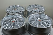 "4 New DDR T1 17x7.5 5x120 35mm Silver/Machined Lip 17"" Wheels Rims"