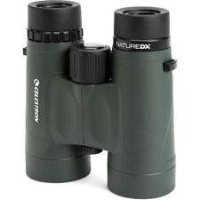 Celestron Nature DX 10 X 42 Roof Prism Binocular #71333 en verde (Reino Unido stock) Nuevo Y En Caja