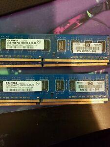 Elpida 2GBx4 DDR3 Memory PC3-10600U Non-Ecc