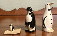 Set Of 3 Penguins Mini Ceramic Figurines 1 Hagen-Renaker & 2 Vintage? TOO CUTE!!