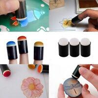 6PCS Sponge Finger Daubers Ink Pad Finger Painting Foam for Ink Chalk Paints