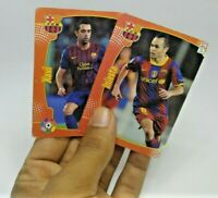 Xavi & Iniesta - Barcelona, Spain - vintage 2 football soccer cards