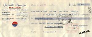 CAMBIALE DEL 1960 - MOBILIFICIO FRATELLI DURANTE - GHIRANO DI PRATA UDINE - -