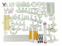 Anokay DIY 74-tlg Set Modellierwerkzeug Fondant Ausstechform Tortendeko Stempel