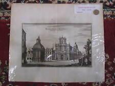 Portail la maison professe des jésuites Mérian 1646 eau forte originale. Paris
