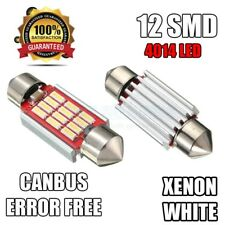 2x ford focus c-max 1.6 xenon blanc 12 led licence plaque d'immatriculation ampoules uk