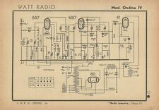 Radioricevitore Watt Radio Mod. Ondina IV Radio Industria Milano 1942