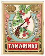 C1900 BOTTLE LABEL CHROMOLITHOGRAPH ITALY ALCOHOL ORIGINAL TAMARINDO MILAN