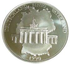 A411) Medaille DEUTSCHLAND EINIG VATERLAND 1990 EINIGKEIT RECHT FREIHEIT