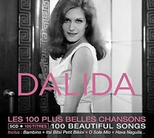 DALIDA - THE 100 MOST BEAUTIFUL SONGS  5 CD NEUF
