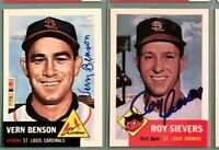 VERN BENSON St Louis Cardinals 1953 Topps Archives *DECEASED* SIGNED / AUTOGRAPH