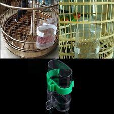 Bird Pet Drinker Food Feeder Waterer Clip For Aviary Cage Parrot Budgie Lovebird