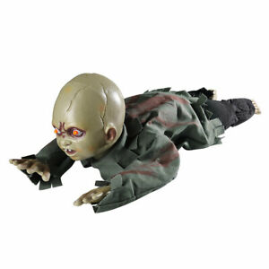 Crawling Baby Animated Zombie Scary Ghost Baby Doll Haunted Halloween Decor