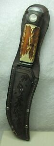 vintage Solingen Germany hunting knife and scabbard