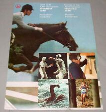 Original Montreal 76 Summer Olympic Official Modern Pentathlon Poster