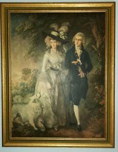"Thomas Gainsborough,""The Morning Walk""1785, Oil Reproduction"