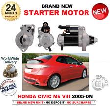 POUR HONDA CIVIC VIII 1.8 Starter Motor 2005-ON FN1 FK2 FD1 FA 1.2 kW 9 dents