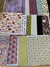 LOT OF SCRAPBOOKING PAPER CARD STOCK FLORAL GLITTER  PAISLEY 12X12