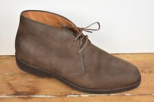 Allen Edmonds Solid Brown Suede Lace Up Chukka Boot Size: 11B