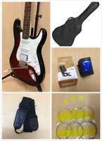 Haze E-211TRDS Electric Guitar Pack,Tiger-Red Sunburst+Free Gig Bag-Full Kit!