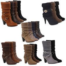 Damen Stiefel Strick Stiefeletten Schuhe Gefüttert 98177 Gr. 36-41
