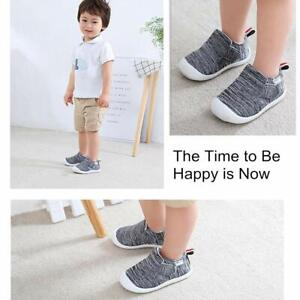 OAISNIT Baby Girl Fabric Slip On, A-grey, Size 4.0 vHSh