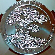 2013 ATB 5 OZ.SILVER GREAT BASIN NGC MS-69 EARLY RELEASE