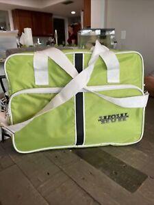 "K&R Tote Shoulder Bag Beautiful Bright Green Extra Large 16 1/2"" Long X 12"" Tall"