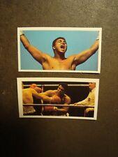 2 Muhammad Ali Cassius Clay Tarjetas de comercio de boxeo