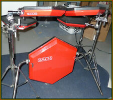 Vintage Red Simmons SDS8 Drum Kit with Analog Brain Tested Excellent!
