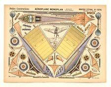 Pellerin Imagerie D'Epinal- 1376 Aeroplane Monoplan Petite vintage paper model