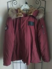 Alpha Industries  2XL Burgundy N2B Cold Weather Parka Down Faux/Real Fur Hood