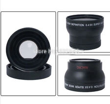 TOP Seller 55mm 0.45x Wide Angle Lens Macro HD For Canon Nikon DSLR Cameras