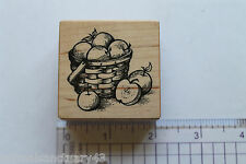 PSX E-1375 Apple Basket Rubber Stamp - Fall Harvest