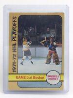 1972-73 NHL Playoffs Game 5 Rangers Bruins #54 OPC O-Pee-Chee Hockey Card I196