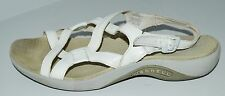 """MERRELL """"Agave"""" White Leather Slingback Women's Sporty Sandals Sz 10 GC ~LOOK~"""