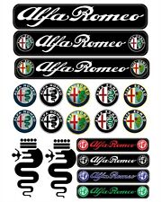 Alfa Romeo Tuning Decals Sticker  1 Set-19 Piece  Full color HD