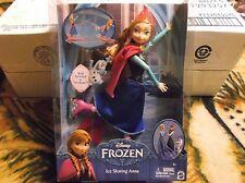 Disney Frozen Ice Skating Anna NIB 11.5 inches tall. 2014 Mattel.  Girls 4+