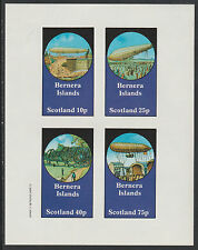 GB Locals - Bernera 2828 - AVIATION - AIRSHIPS imperf sheetlet unmounted mint
