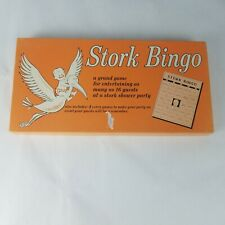 VTG 1967 BABY SHOWER BOOK PAD 4 GAMES SHEETS FOR 16 PLAYERS Expecting the Stork