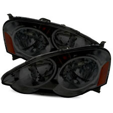 For 2002-2004 Acura RSX DC5 Smoke Amber Crystal Headlights LH/RH Replacement