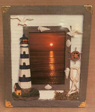 The Nautical Collection Wood Photo Frame Lighthouse Themed 3x5