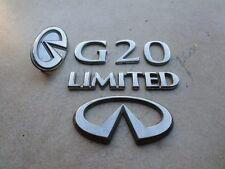 99-02 Infiniti G20 Limited Front 62890-7J100 Logo Trunk 84890-7J100 Emblem Set