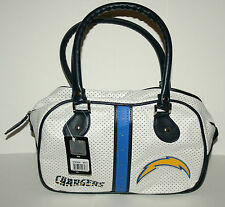 San Diego Chargers Logo NFL Football Stitch Handbag Purse Bag Bowler New Tags