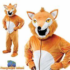 MR FOX WITH BIG HEAD ANIMAL MASCOT - One Size - mens ladies fancy dress costume