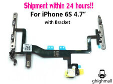 """OEM Power Volume Mute Switch Button Flex Cable For iPhone 6S 4.7"""" with Bracket"""