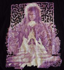 David Bowie Labyrinth T-Shirt Jareth the Elf King Medium Black Purple Jim Henson
