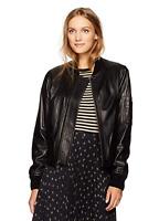 New! $995 VINCE Leather Bomber Jacket Size Large