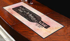 PERSONALISED BEST CURE FOR BIRTHDAYS IS WINE WATERCOLOUR DESIGN BAR RUNNER