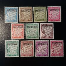 FRANCE COLONIE MARTINIQUE TIMBRE TAXE N°1/11 NEUF * GOMME D'ORIGINE COTE 77€